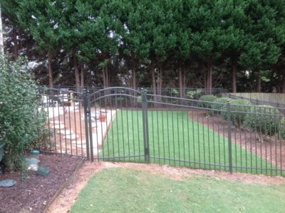 Flat Top Black Aluminum Fence